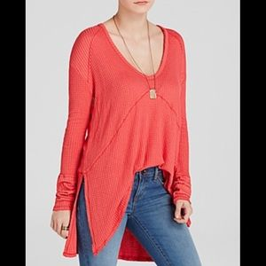 Free People Sunset Park Thermal Poppy Top